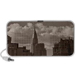 Construcción de Chrysler y horizonte de Nueva York PC Altavoces