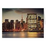 Construcción de Chrysler y horizonte de NYC Tarjeton