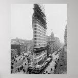 Construcción de edificios de Flatiron, 1902 Poster