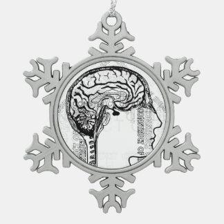 Construcción de ideas adorno de peltre en forma de copo de nieve