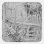 Construcción de la alcantarilla en Bloomsbury, Pegatina Cuadradas Personalizada