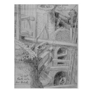 Construcción de la alcantarilla en Bloomsbury, Tarjeta Postal
