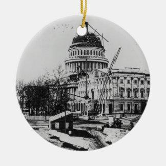 Construcción de la bóveda del capitolio de los ornaments para arbol de navidad