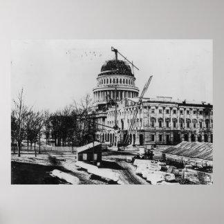 Construcción de la bóveda del capitolio de los E E Impresiones