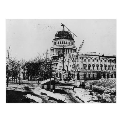 Construcción de la bóveda del capitolio de los E.E Tarjetas Postales