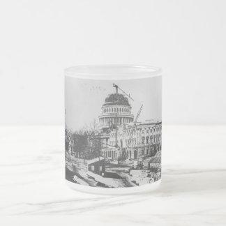 Construcción de la bóveda del capitolio de los taza de cristal