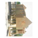 Construcción de la casa de playa membrete a diseño
