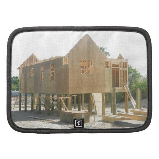 Construcción de la casa de playa planificadores