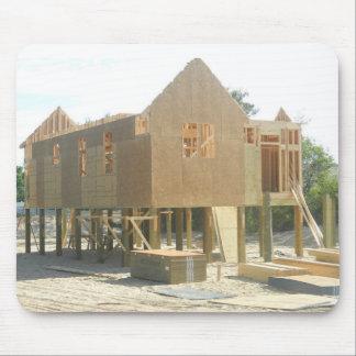 Construcción de la casa de playa alfombrilla de raton