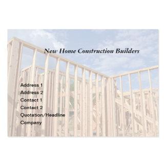construcción de la casa tarjetas de visita grandes