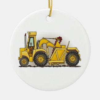 Construcción de la excavadora ornamento de navidad