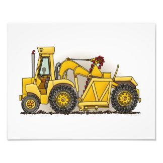 Construcción de la excavadora impresion fotografica