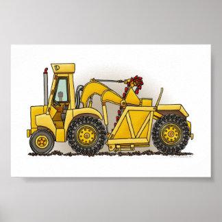 Construcción de la excavadora póster