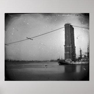 Construcción de la fotografía del puente de póster