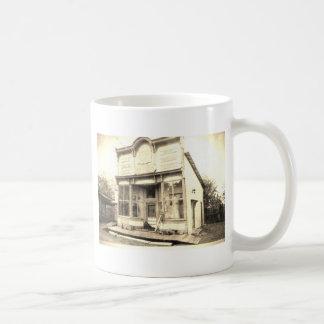 Construcción de la mercancía seca del vintage taza de café