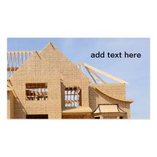 construcción de la nueva casa tarjetas de visita