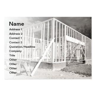 construcción de la nueva casa tarjetas de visita grandes