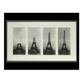 Construcción de la postal de París Francia de la t