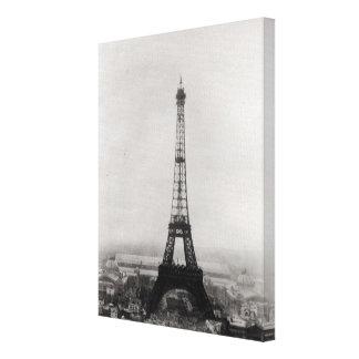 Construcción de la torre Eiffel Impresion De Lienzo