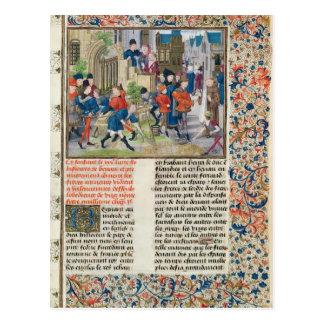 Construcción de las fundaciones del monasterio tarjetas postales