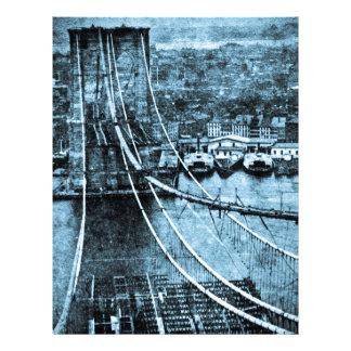 construcción de los 1870s del puente de Brooklyn N Membrete