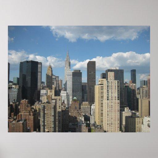Construcción de Nueva York Chrysler Póster
