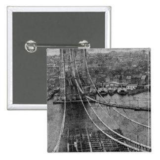 construcción de puente de New York City Brooklyn d Pins