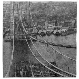 construcción de puente de New York City Brooklyn d Servilletas De Papel