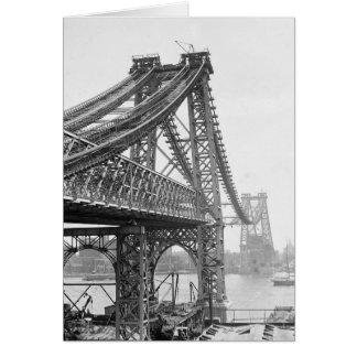Construcción de puente de Williamsburg, 1901 Tarjeta De Felicitación
