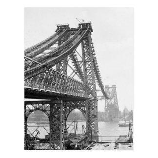 Construcción de puente de Williamsburg, 1901 Postales