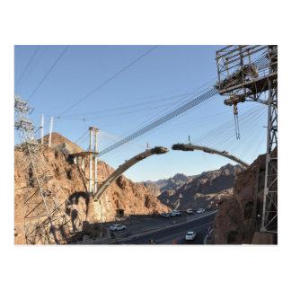 Construcción de puente del Preso Hoover Tarjeta Postal