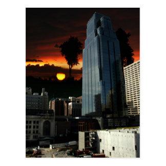 Construcción de una ciudad tarjetas postales