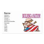 Construcción de una nación tarjetas de negocios