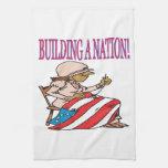 Construcción de una nación toalla de mano