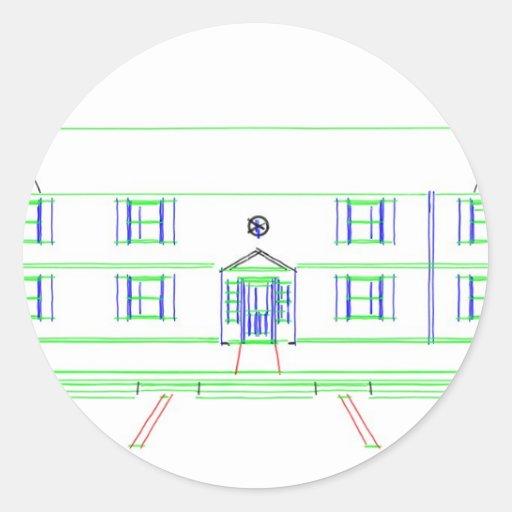 Construcción de viviendas/casa: Dibujo del marcado Pegatinas