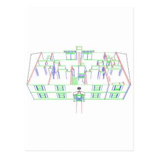 Construcción de viviendas/casa: Dibujo del Tarjetas Postales