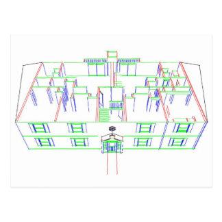 Construcción de viviendas/casa: Dibujo del Postales