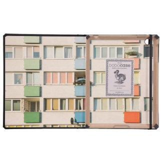 Construcción de viviendas rosada, arquitectura de iPad cárcasa