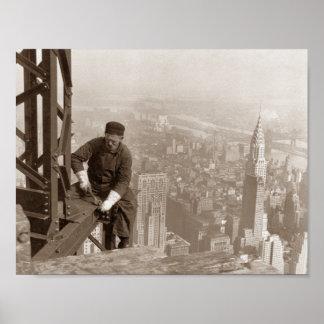 Construcción del Empire State Building - foto del Póster