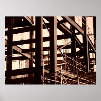 Construcción del marco de acero impresiones
