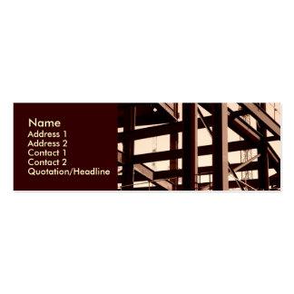 Construcción del marco de acero tarjetas de visita mini