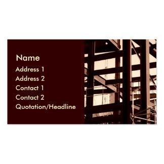 Construcción del marco de acero tarjetas de visita