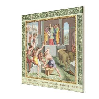 Construcción del templo de Solomon, ejemplo de Impresión En Lona