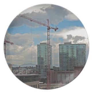 Construcción en Denver céntrica Colorado Plato De Comida