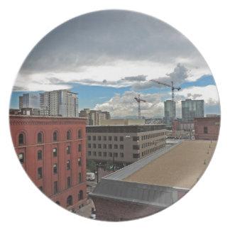 Construcción en Denver céntrica Colorado Platos De Comidas