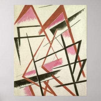 Construcción linear, c.1921 (aguazo en el papel) impresiones