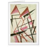 Construcción linear, c.1921 (aguazo en el papel) tarjeta de felicitación