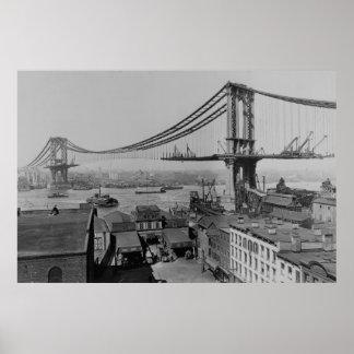 Construcción Manhattan puente del 23 de marzo de 1 Póster