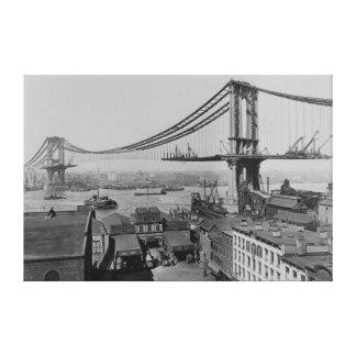 Construcción Manhattan puente del 23 de marzo de Impresiones En Lienzo Estiradas