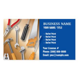Construcción o tarjeta de visita práctica del homb